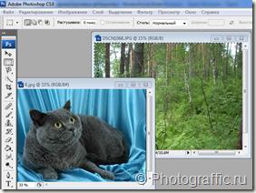 Изображения и откроем их в фотошоп