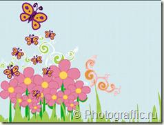 детский фон с бабочками