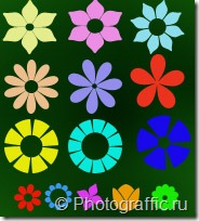 фигуры цветы