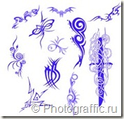 кисти татуировки набор 1