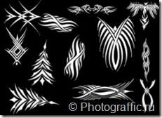 кисти татуировки набор 2
