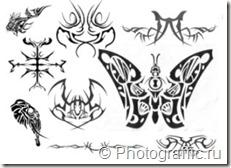 кисти татуировки набор 3