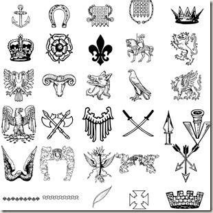 фигуры для фотошопа гербы