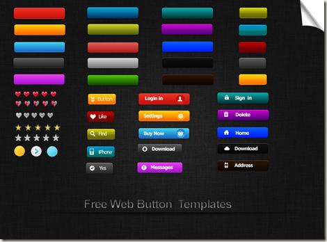 шаблоны кнопок для сайта: