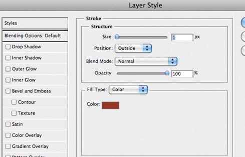 обводка фотошоп в параметрах наложения