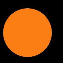 оранжевый эллипс