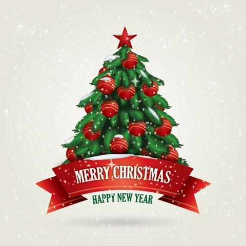 новогодняя ель открытка