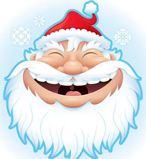 открытка рождественския санта клаус