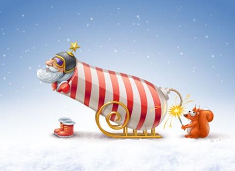 открытка рождественския смешная
