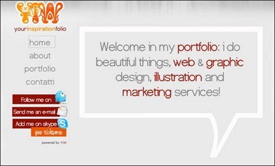 креативные дизайн сайта портфолио