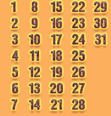 календарные блоки 2014