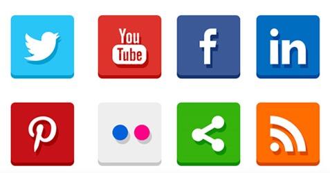simple-flat-social-media-icons