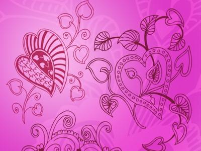 Valentine_кисти фотошоп