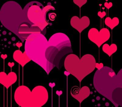векторные сердца кисти
