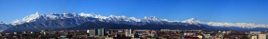 панорама фото гор