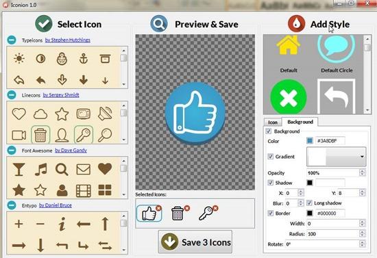 Программа для создания иконок Iconion