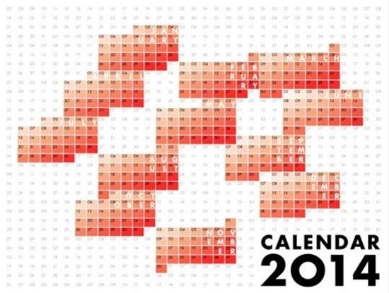 креативные дизайны календарей