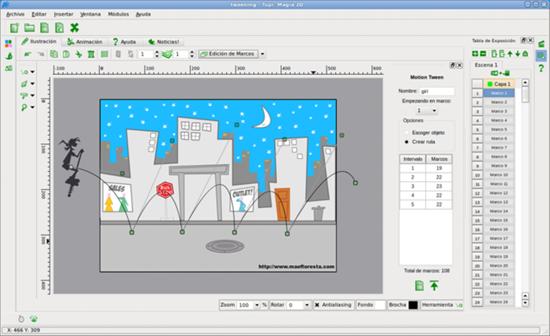 Tupi 2d анимация