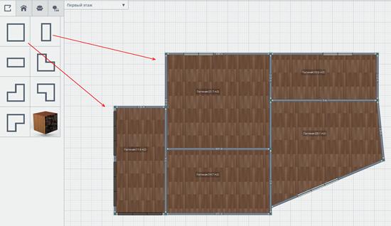 проектируем квартиру- добавляем блоки
