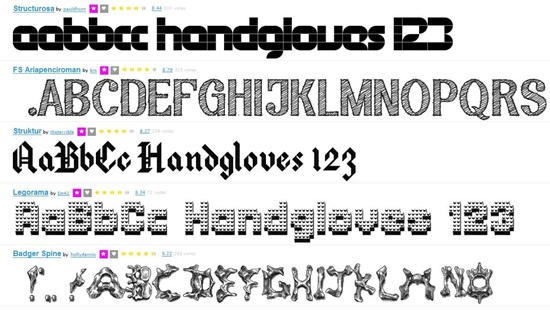 галерея шрифтов онлайн