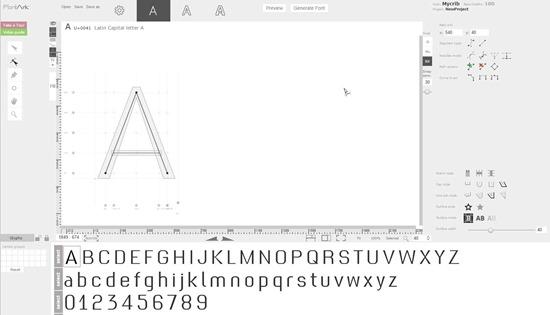 создание шрифта в браузере