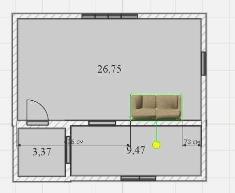 добавляем мебель на план комнаты