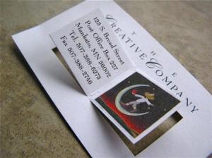 визитная карточка креативной компании