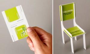 3d виитная карточка в виде стула