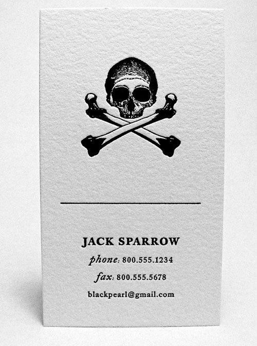 визитная карточка пирата
