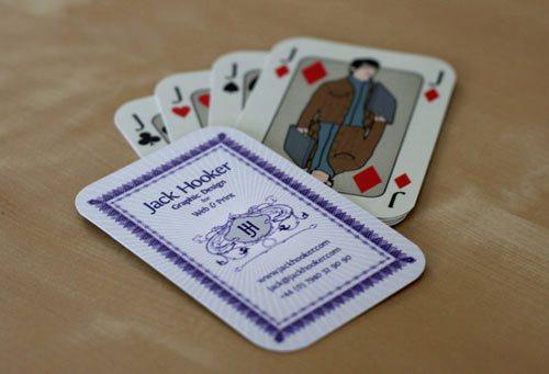 визитная карточка игральная карта