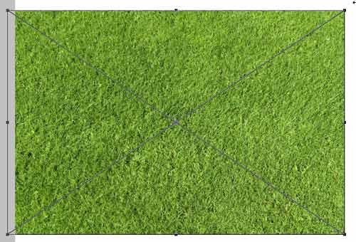 текстуру травы накладываем на текст в photoshop