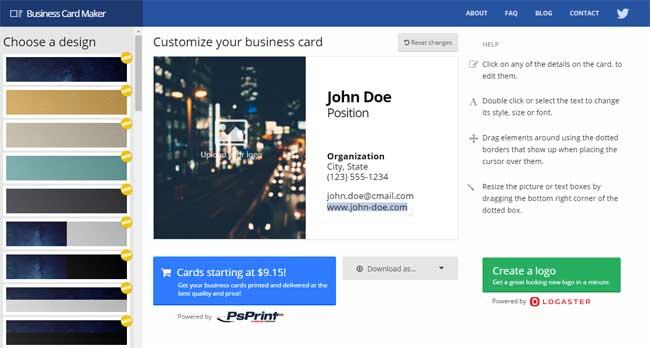 визитные карточки бесплатно