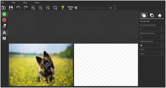 интерфейс программы Photoscissors