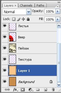 Работа со слоями в Adobe Photoshop