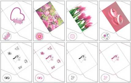 свадебные конверты - шаблоны