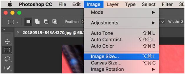 Изменение размера изображения с помощью команды «Размер изображения»