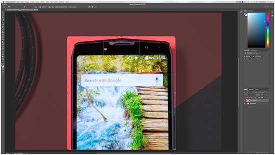 Tool Crop - инструмент Рамка в фотошоп