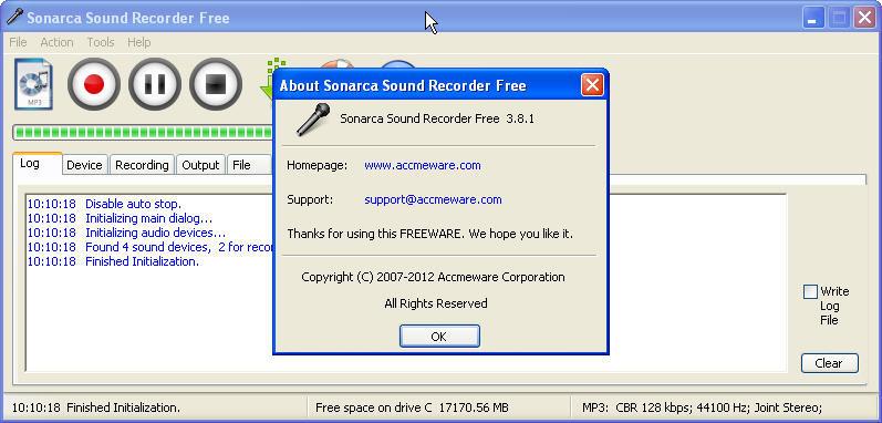 Sonarca Sound Recorder