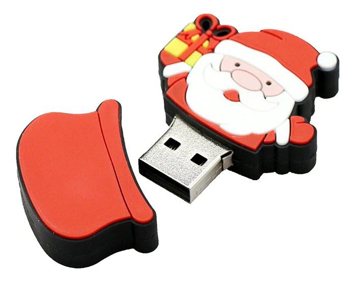 USB-накопитель с новогодней тематикой