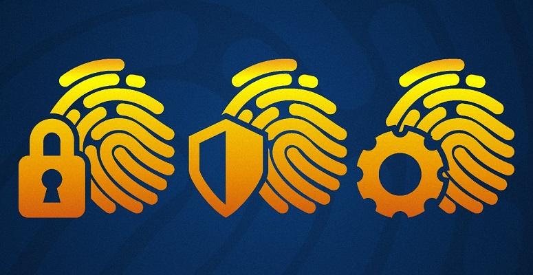 Символы защиты с отпечатком пальца