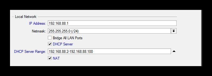 Измененение IP-адреса
