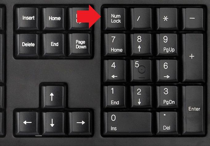 Кнопка Num Lock