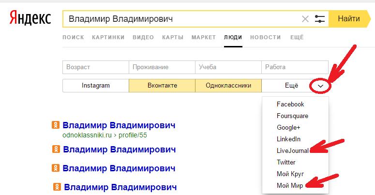 Яндекс пипл