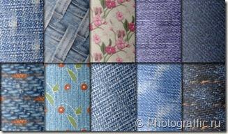 джинсовые стили фотошоп