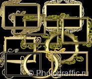 золотые рамки для виньеток