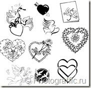 фигуры фотошоп - символы любви