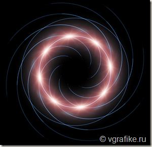 рисуем спираль в фотошоп