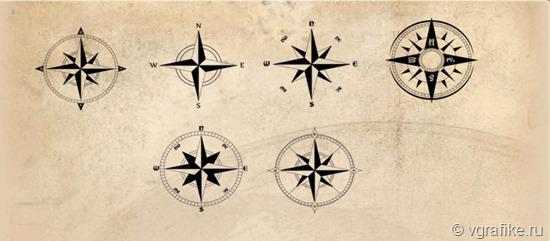 кисти компас для фотошоп
