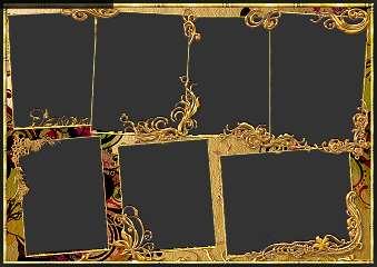 золотая рамка для фото