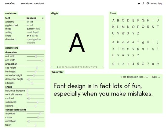 создать шрифт онлайн